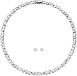 Swarovski Tennis Style Earrings & Necklace