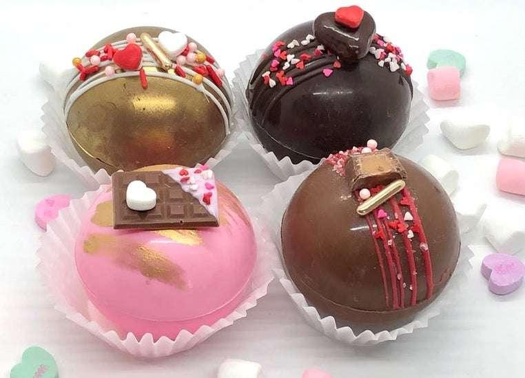 Valentine Cocoa Bombs Set