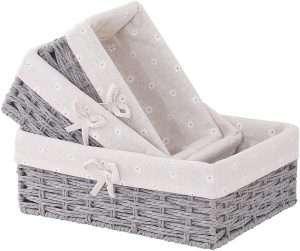 Bow Woven Handmade Storage Basket