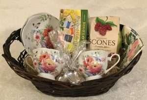 Floral Tea Gift Baskets