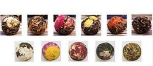 Organic Blooming Flower Black Tea Balls Kit