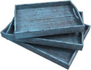 Rustic Wooden Serving Trays for DIY Gift Basket