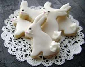 Bitty Easter Bunny Sugar Cookies