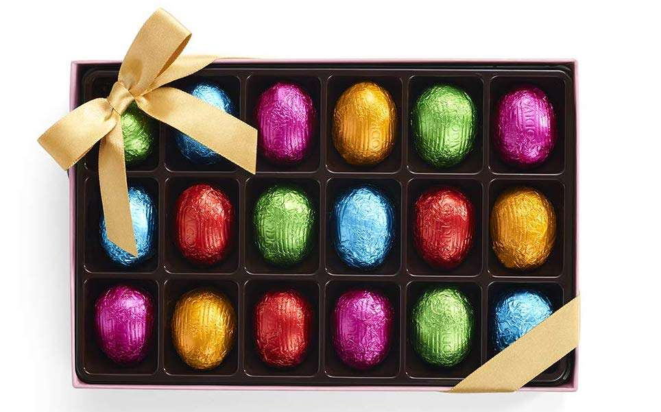 Godiva Chocolatier Assorted Chocolate Foil Eggs Box