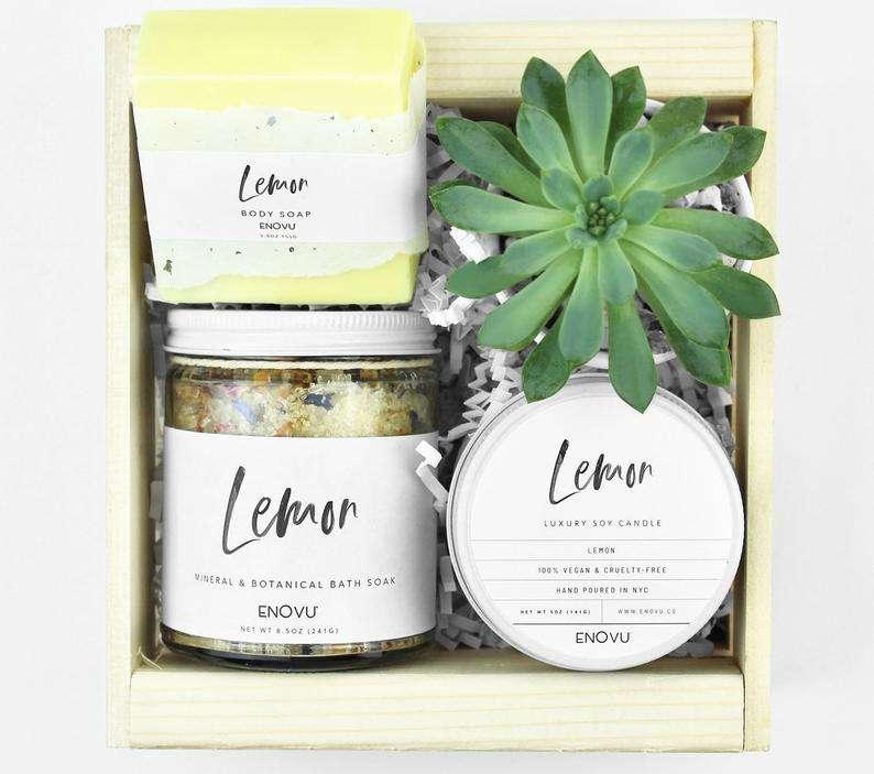 Lemon Succulent Gift Box