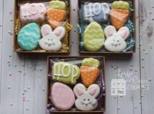 Mini Easter Decorated Sugar Cookies