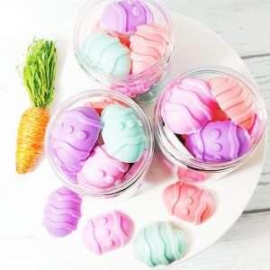 Pastel Easter Egg Soaps Basket