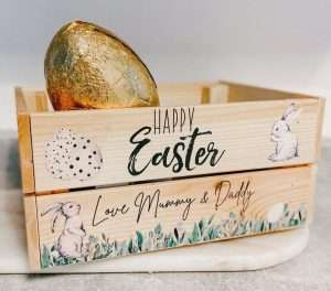 Personalized Eucalyptus Easter Bunny Crate