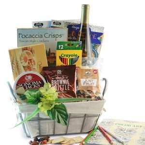 Adult Coloring Book & Wine Gift for Mom