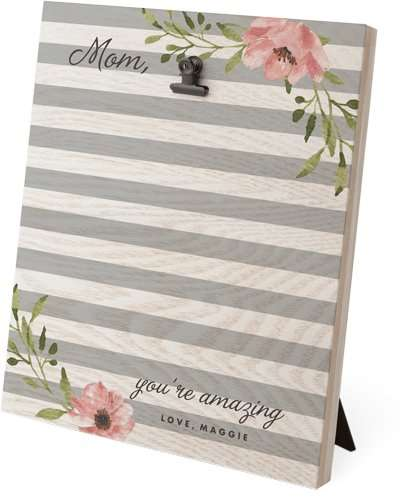 Florals And Stripes Clip Photo Frame