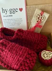 Hygge Heart Knit Sock Box