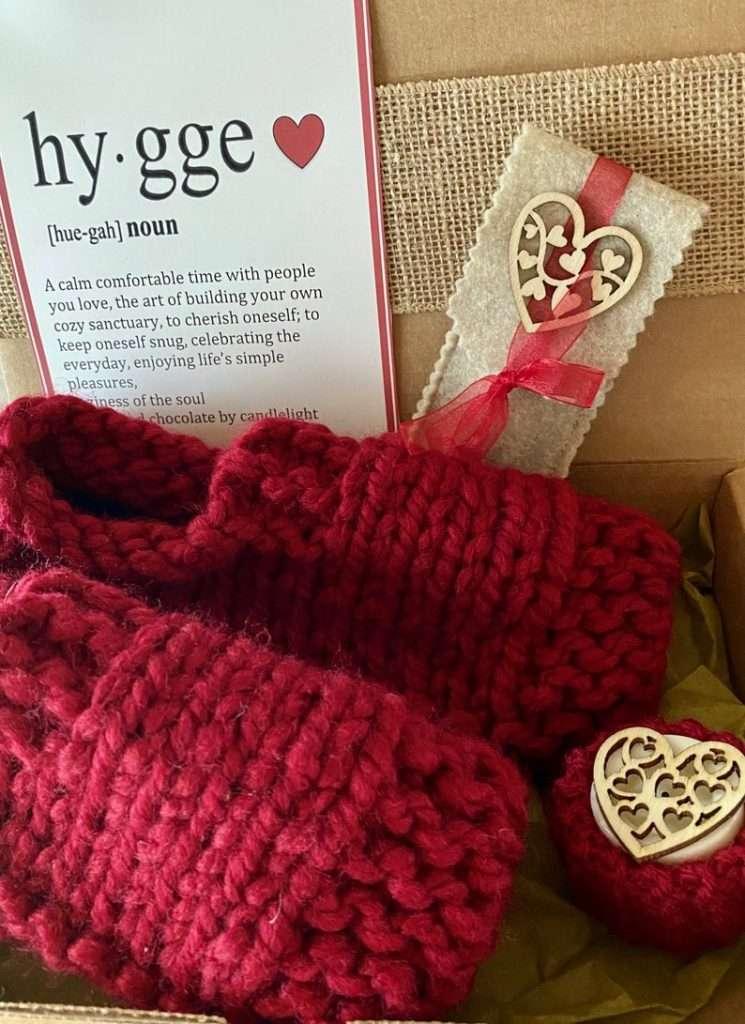 Hygge Heart Knit Sock Box