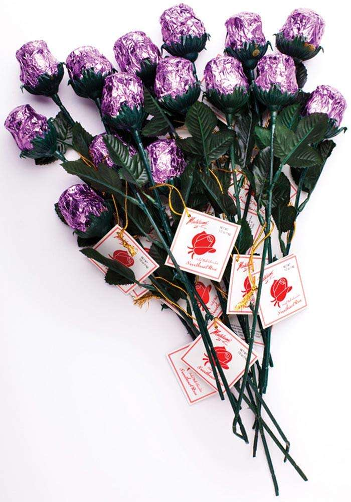Madelaine Chocolate One Dozen Red Sweetheart Roses