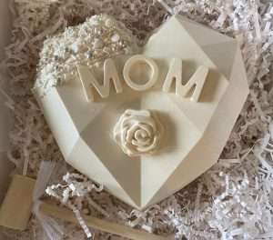 Mother's Day Breakable White Chocolate Heart