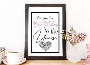 Word Art Print Mother's Day Frame