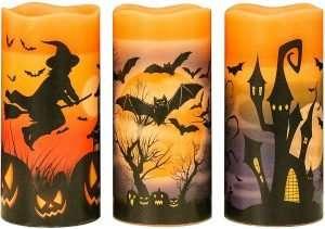 Halloween Flickering Flameless Candles
